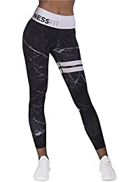 087438c1de68a NESSFIT® Women s Fitness High Waist Leggings Workout Tights Compression Gym  Yoga Comfortable Pants Full Length
