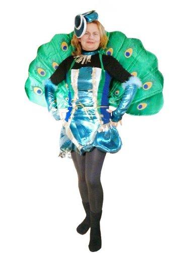 Pfau Männer Kostüm - Pfau-Kostüm, To53 Gr. M-L, Pfau-Faschingskostüme für Männer und Frauen, Pfau-Faschingskostüm, für Fasching Karneval Fasnacht, Karnevals-Kostüme, Faschings-Kostüme, Geburtstags-Geschenk