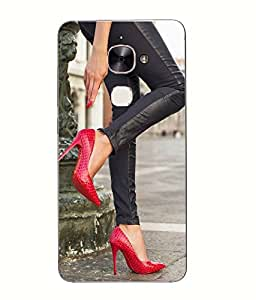Snazzy Heels Printed Red Hard Back Cover For Letv Le Max 2