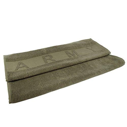 Armee-Handtuch-in-grn-mit-Army-Logo-oben-und-unten-100-Baumwolle-100-x-50-cm
