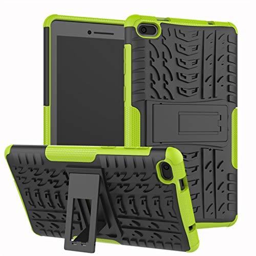 Für Lenovo Tab E7 Hülle, Colorful [Heavy Duty] Rugged Armor stoßfest Handy Schutzhülle Silikon Tasche Ständer Hülle Case mit Standfunktion für Lenovo Tab E7 (Grün)