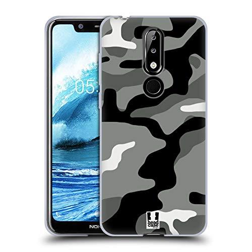 Head Case Designs Night Shift Militärische Tarnfarben Soft Gel Hülle für Nokia 5.1 Plus / X5