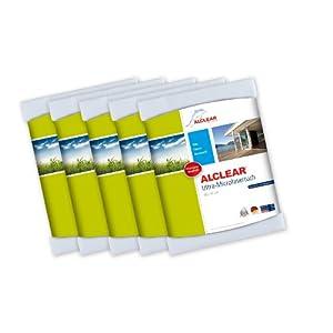 ALCLEAR Auto Microfasertuch Trockenwunder für Autopflege, Autolack, Motorrad, Küche u. Haushalt – Microfaser Geschirrtuch – weiches Trockentuch – 60×40 cm blau
