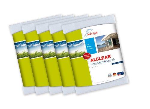 ALCLEAR 950001 Ultra-Microfaser Fenstertücher Scheibentuch 40 x 45 cm, weiß ,5er Set