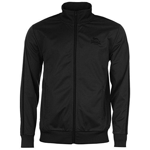 Lonsdale Herren Trainingsjacke Jacke Sportjacke Sport Freizeit Reissverschluss Charcoal/Black Large