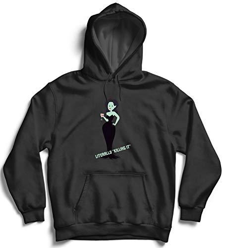 Killing It_007285 Hooded Pullover Unisex 2XL Black Hoodie ()