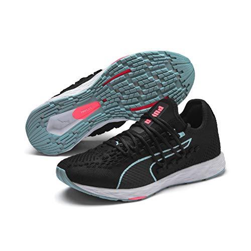 Puma Speed 300 Racer Wn, Zapatillas de Running para Mujer, Negro Black-Milky Blue-Pink Alert 05, 3.5 EU