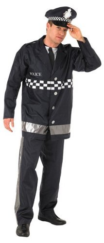 Policeman - Adult Costume Men : (Kostüme 999 Emergency Services)
