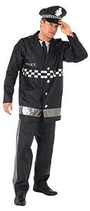 Policeman - Adult Fancy Dress Costume - Large (disfraz)