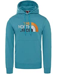 The North Face Drew Peak Felpa con Cappuccio, Uomo, Blu (Storm Blue), M