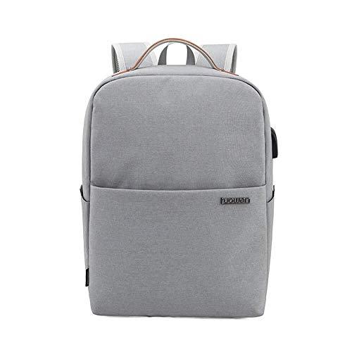 XDBY Reise-Bookbag, Leichter Business-Rucksack Mit USB-Ladeanschluss Männer Casual Camping Rucksack Teen Rucksack 15,6-Zoll-Laptop-Tasche (Color : LightGray)