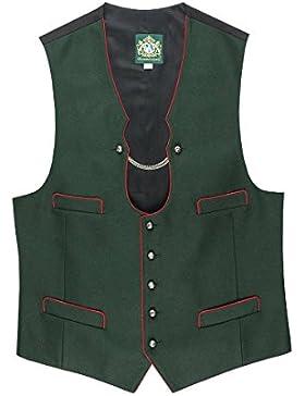 Hammerschmid Herren Trachtenweste grün-rot Josef 114218