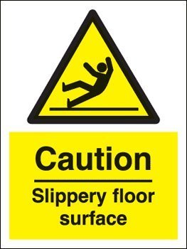 For Talking Sign Box - Caution Slippery Floor Surface (Self
