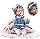 ZIYIUI Fatto a Mano Bambolina Reborn Dolls Morbido Realistico Bambola della Ragazza Appena Nata Bambino 18 Pollici 45 cm Silicone Vinile Regalo di Compleanno