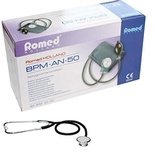 Blutdruckmessgerät mit Pumpball und Oberarm Manschette mit Doppelkopf Stethoskop und Aufbewahrungstasche