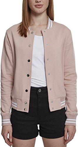 Urban Classics Damen Sweatjacke Ladies College Sweat Jacket,Pink,M