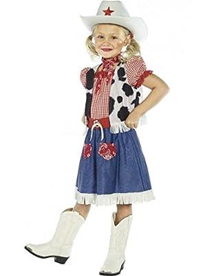 Aptafêtes - Déguisement pour Enfant Fillette - Cow-Girl