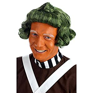 Gifts 4 All Occasions Limited SHATCHI-1135 Shatchi-Green Chocolate Factory Peluca de trabajador ideal para UMPA Lumpa/Oompa Loompa Fancy Dress School Book Week