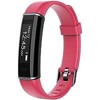 YAMAY Fitness Armband,Wasserdicht IP67 Fitness Trackers Aktivitätstracker Fitness Uhr Smartwatch Schrittzähler für Damen Herren Vibrationsalarm Anruf SMS Whatsapp Beachten für iPhone Android Handy