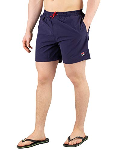 Fila Herren Martin Basic Swimshorts, Blau, M Classic Nylon Peacoat