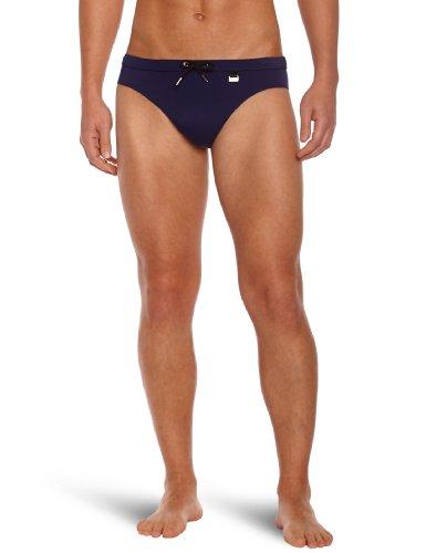 HOM Herren Badehose Marine Chic Swim Mini Briefs Blau (Dunkelblau)