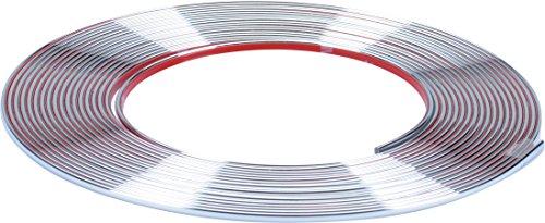 Preisvergleich Produktbild hr-imotion selbstklebende Chrom-Zierleiste - 1000cm x 3,5mm [3M Material | Zuschneidbar | Witterungsbeständig | Hochflexibel] - 12010101