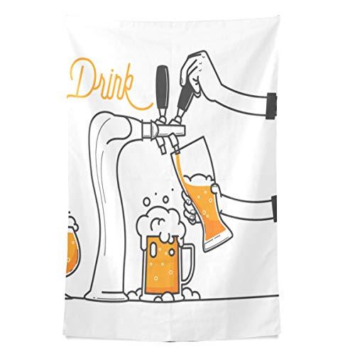 Muster Cartoon Dekoration wandteppich wandbehang cool Post drucken für wohnheim Hause Wohnzimmer Schlafzimmer tagesdecke Picknick bettlaken 80x60 Zoll ()