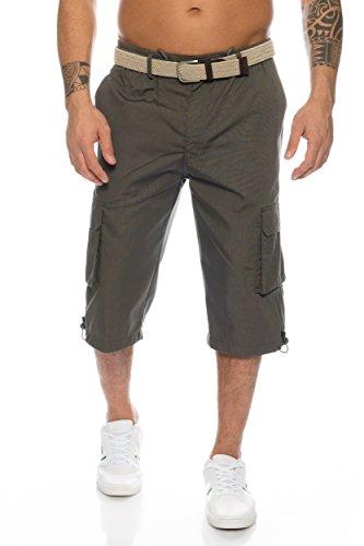Herren Cargo Shorts mit Dehnbund - mehrere Farben ID505, Größe:XL;Farbe:Dunkelgrau