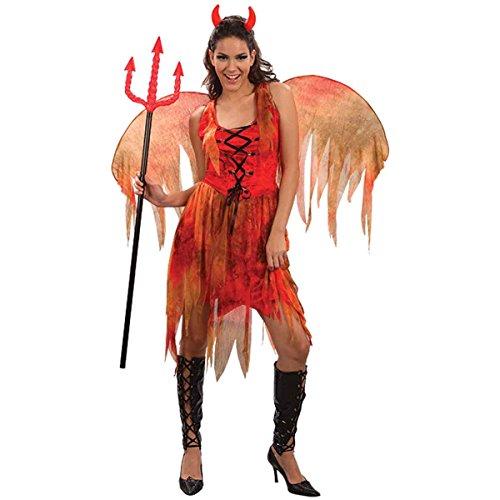 Damen-Hexe im Wald & Teufel Kostüm Damen Erwachsene Kostüm Halloween-Party (Mädchen Kostüme Teufel)