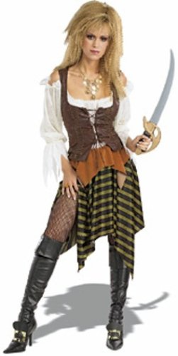 ostume Adult Fancy Dress (Womens Pirate Wench Kostüm)