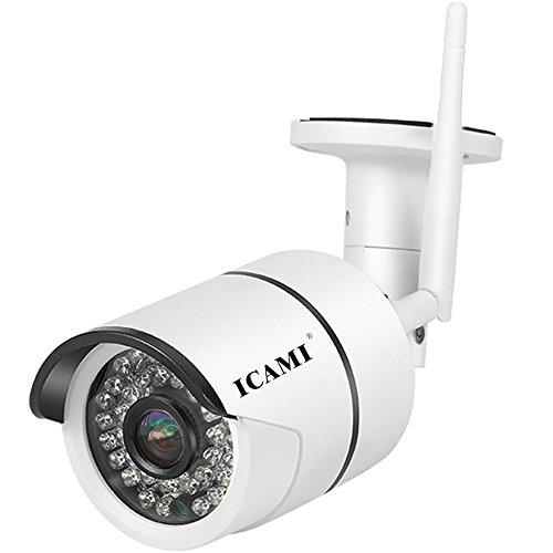 ICAMI CA-807A-R 720P HD 36ir Outdoor Night Vision Waterproof WiFi Bullet IP Security Camera Wireless SD Slot Motion Detection