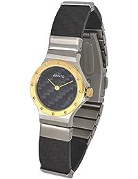 Aristo Mujer Cuarzo Reloj de pulsera Carbon/acero inoxidable Model Dhow 2d18C impermeable 3ATM