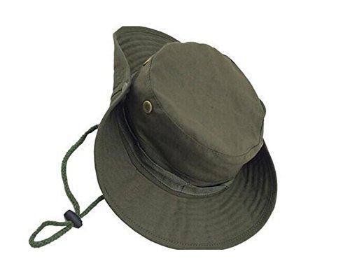 JUNGEN Camuflaje sombrero redondeado protección solar Boone sombrero al  aire libre escalada selva hombres mujeres tácticas a28375d1216