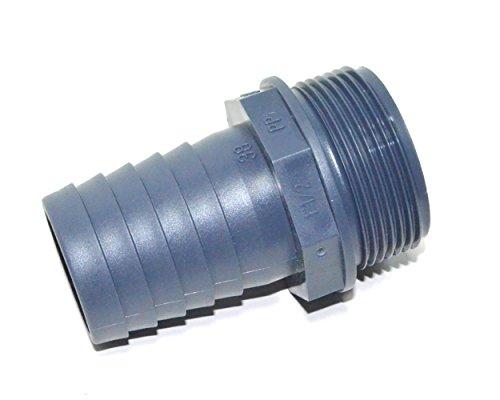 Pumpenanschluss Schlauchtülle Ø 38 mm | Außengewinde 1 ½ Zoll | grau | - 3