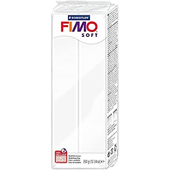 Staedtler Fimo Soft 8022-0 Oven Hardening Modelling Clay 350g - White