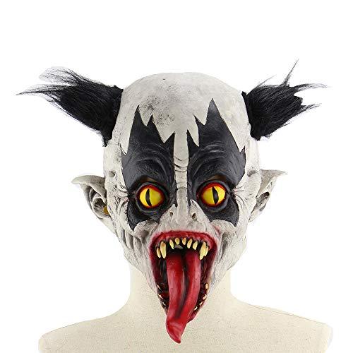LJYASD Halloween Latex Maske Mutant Bat Clown Terror Bar Abschlussball Zimmer Entkommen Requisiten Unheimlich