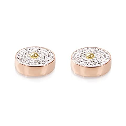 Diamond & Rose Gold Button Covers - The Only Cufflinks for Shirts with Buttons