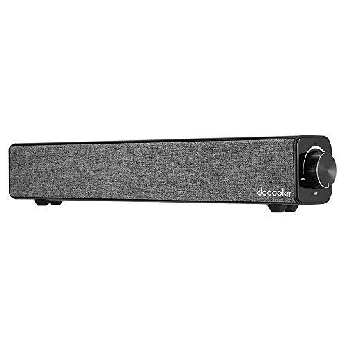Mit Micro-usb-kabel 4 Füßen (Docooler Bluetooth 4.0 Lautsprecher 20W Leistung von Dual-10W Treiber Tiefen Bass AUX-IN Musik 4400mAh Akku Schwarz für TV PC Tablets Smart Phones)