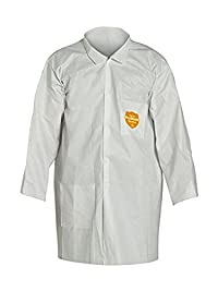 Dupont NG212SWH2X003000 ProShield NexGen Lab Coat with Collar Open Wrists Extends Below Hip, Front Snap Closure, XX-Large, White (Pack of 30)
