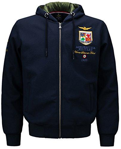 Sawadikaa uomo softshell full zip felpa con cappuccio giacca in pile maglione abbigliamento sportivo marina militare large