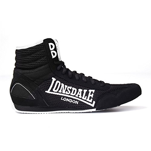 Lonsdale Kinder Contender Boxstiefel Schwarz/Weiß 40