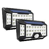 Solarleuchte LED Solarlicht, iGOKU 42 LEDs außenwandleuchten Bewegungsmelder solarlampen für außen, 270 °Weitwinkel P65 Wasserdicht, 3 Modi Hitzebeständig für Garten, Garage, Balkon(2 Stücke)