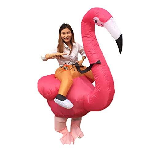 Kostüm Parks Recreation Party And - LOVEPET Aufblasbare Kleidung des Halloween-Weihnachtserwachsenen Flamingos Morphen Sie Unisex Cosplay Kostüm Tierhalterung Huckepack Kleidung Jährliche Event Requisiten