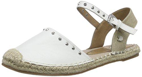 Tom Tailor Tom Tailor Damenschuhe, Damen Knöchelriemchen Sandalen, Weiß (white), 37 EU