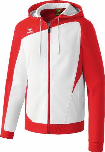 erima Erwachsene Jacke Club 1900 Trainingsjacke mit Kapuze, Weiß/rot, 11 EU (50/52 UK), 307335