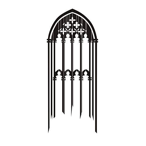 captain_y Adesivo da Parete per Finestre Gotico Adesivo per Candele Decorativo in Vinile Decorativo per Soggiorno 56X134Cm