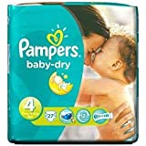 Pampers Baby Dry taille 4 (7–18 kg) x 27 par lot