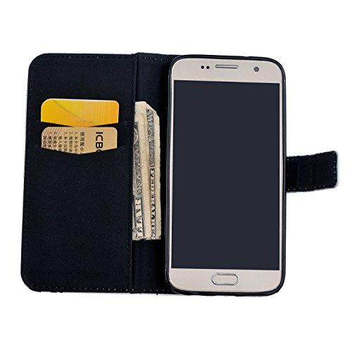 Voguecase® für Apple iPhone 5 5G 5S, Kunstleder Tasche PU Schutzhülle Tasche Leder Brieftasche Hülle Case Cover (Frühling) + Gratis Universal Eingabestift Liebhaber 01