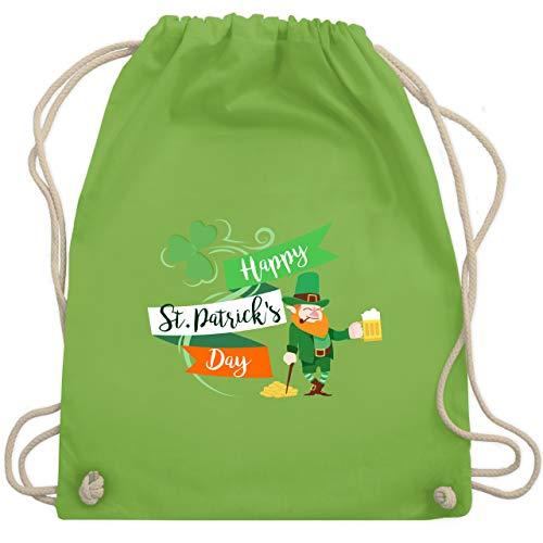 St. Patricks Day - Happy St. Patricks Day Kobold - Unisize - Hellgrün - WM110 - Turnbeutel & Gym Bag