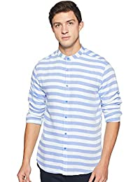 Diverse Men's Striped Slim Fit Casual Shirt
